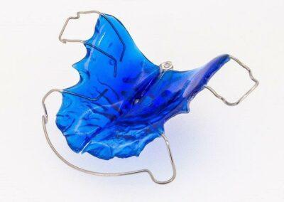 Plaque Eventail bleue